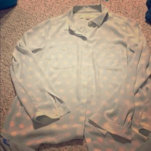 Blue and white shirt; taking offers